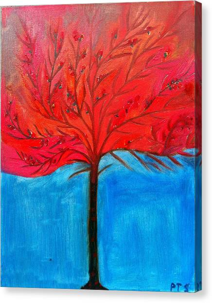 Transition To Spring Canvas Print by Prachi  Shah