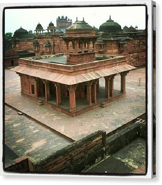 Judaism Canvas Print - #travel #temple #red #india by Christoph Hensch