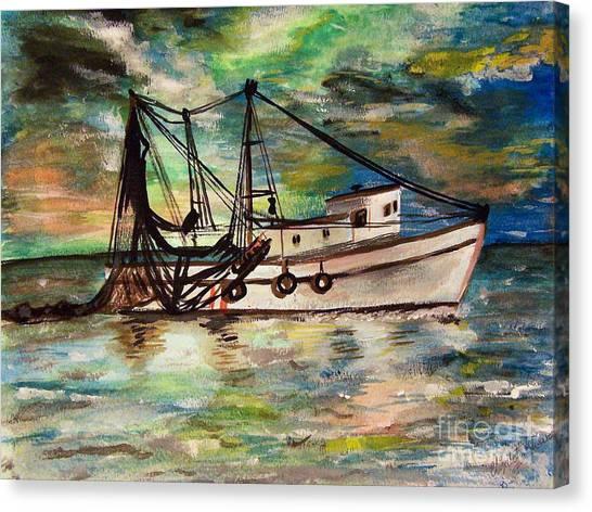 Trawling Canvas Print