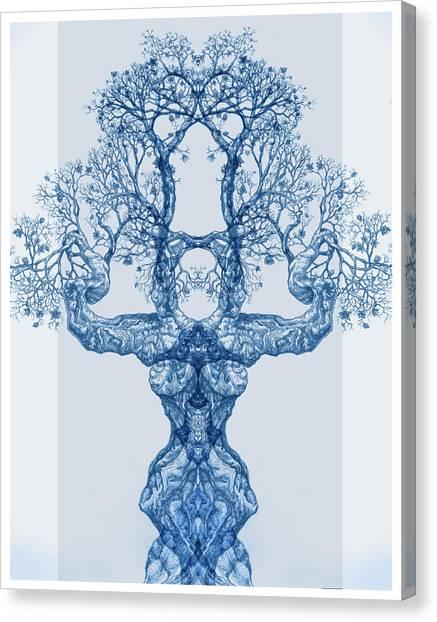 Tree 14 Blue 4 Canvas Print