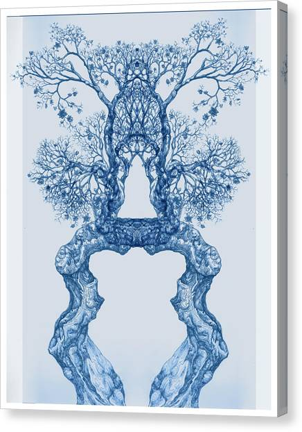 Tree 14 Blue 8 Canvas Print