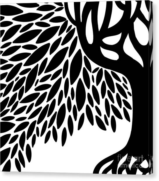 Tree Graphic Canvas Print by HD Connelly