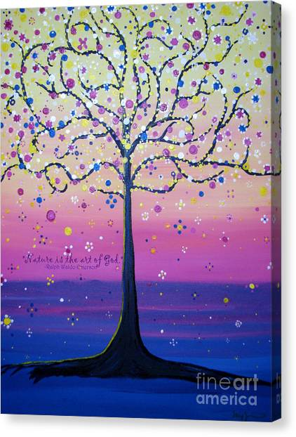 Tree Of Inspirations Canvas Print
