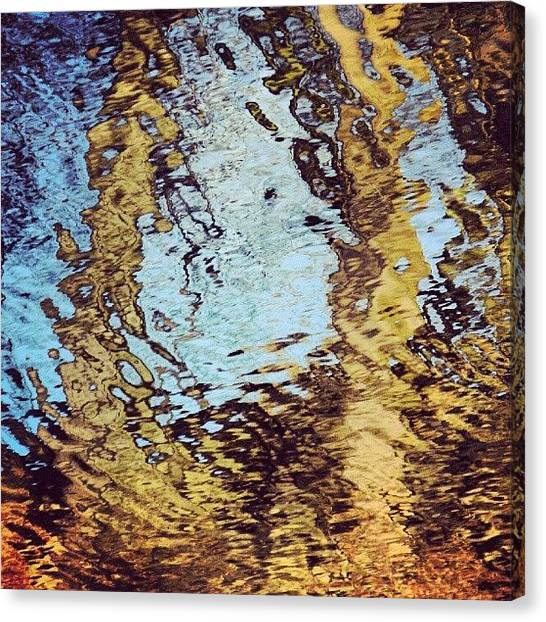 Liquids Canvas Print - #trees #reflecting In The #water by Alexandra Cook
