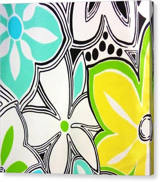 Trendy Floral Canvas Print by Florene Welebny