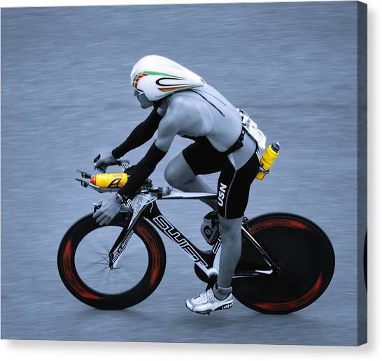 Triathlon Man Canvas Print