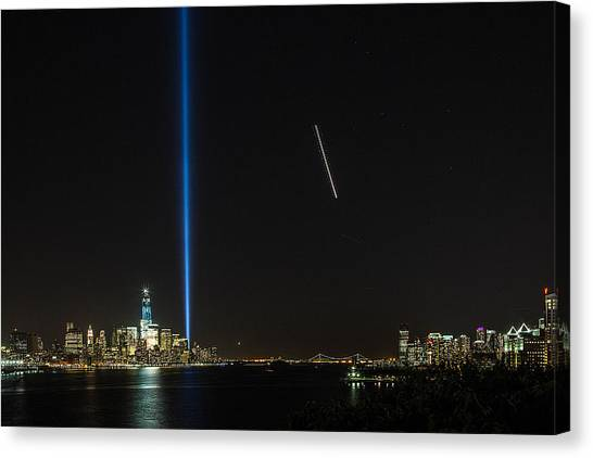 Tribute In Light Canvas Print by John Dryzga