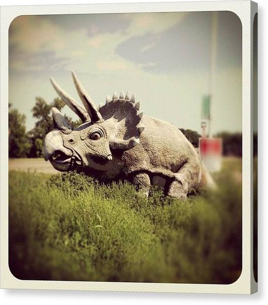Triceratops Canvas Print - #triceratops #dinosaurs #instagood by Shwa Moen