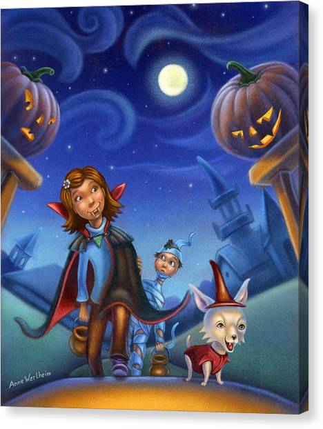 Trick Of Treating Canvas Print
