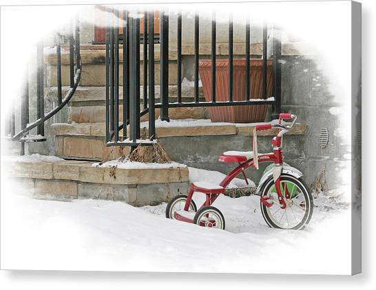 Tricycle Canvas Print by Judy Deist