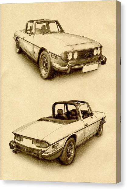 Stag Canvas Print - Triumph Stag by Michael Tompsett