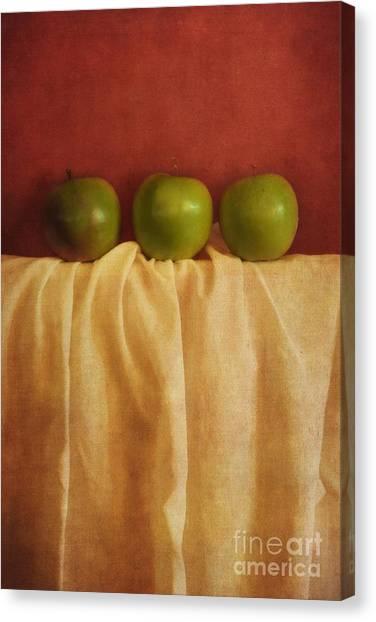 Apples Canvas Print - Trois Pommes by Priska Wettstein