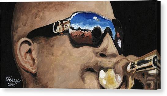 Trombone Shorty At The Jazz Fest Canvas Print by Terry J Marks Sr