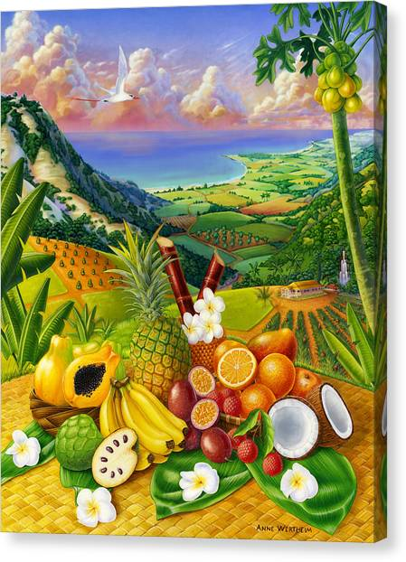 Tropical Fruit Medley Canvas Print