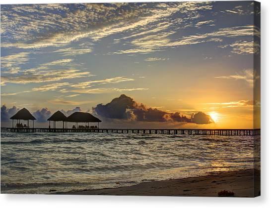 Tropical Ocean Sunset Canvas Print