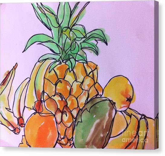 Tropical Snack Canvas Print