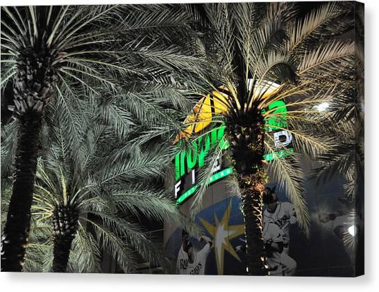 Tampa Bay Rays Canvas Print - Tropicana Field Entrance by John Black