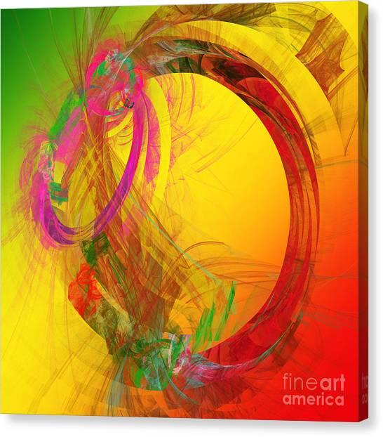 Rain Canvas Print - Tropics Under The O by Andee Design