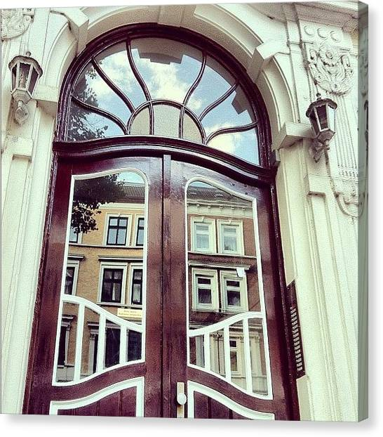 White House Canvas Print - Türspiegel #houses #mirror #lamps by Valnowy Photography