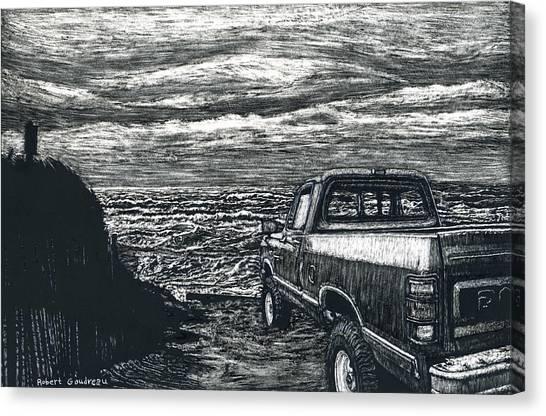 Truck At Nantucket Canvas Print by Robert Goudreau