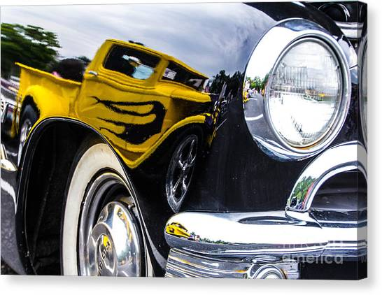 Truck Reflection Canvas Print by Ursula Lawrence