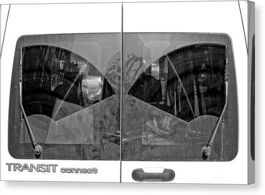 Truck Windshield Canvas Print by Robert Ullmann