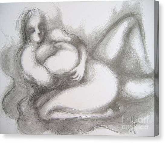 True Despair And A Golden Heart II Canvas Print