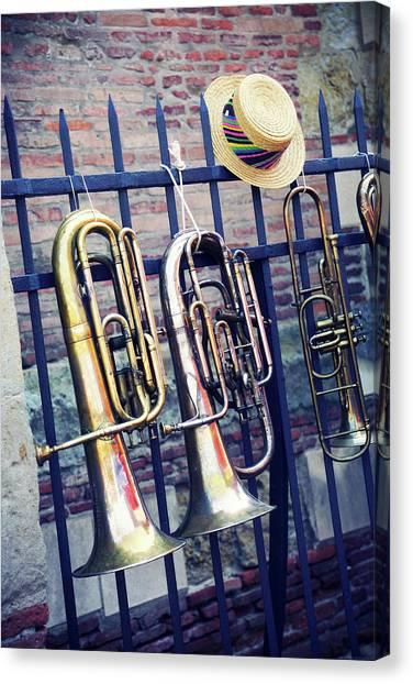 Fleas Canvas Print - Trumpet by Christian Rivière
