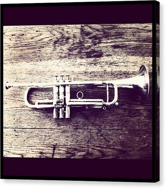 Jazz Canvas Print - Trumpet by Giuseppe Anello