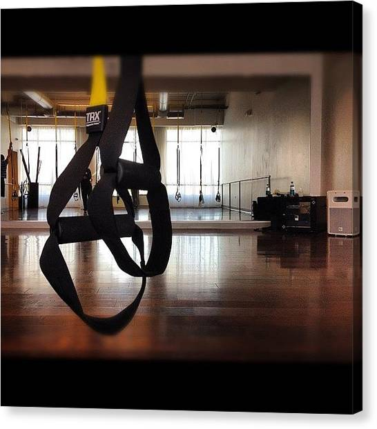 Gym Canvas Print - Trx Time :) by Ariana Hernandez