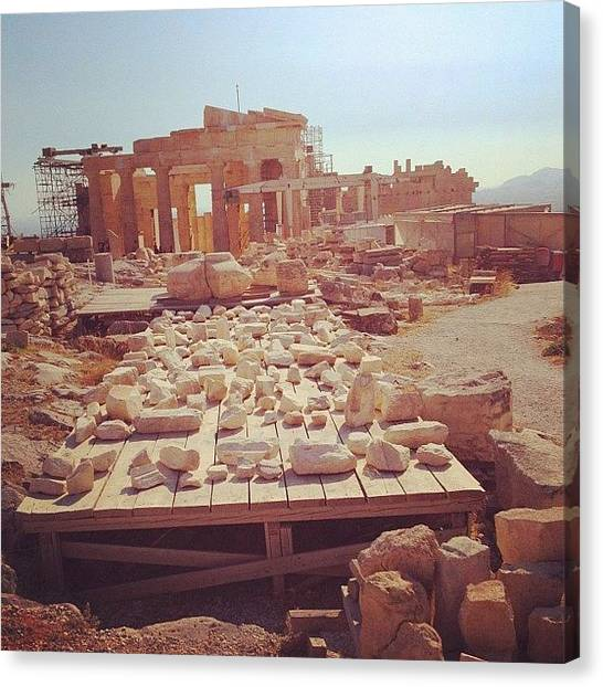 The Acropolis Canvas Print - Try To Put The Pieces Together! #stone by Dimitre Mihaylov