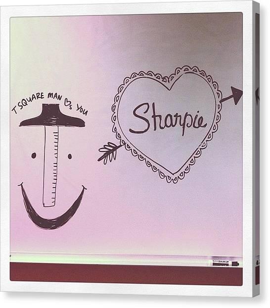 Jerseys Canvas Print - Tsquare Man by Kristenelle Coronado