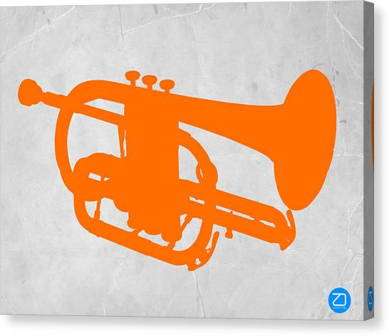 Trombones Canvas Print - Tuba  by Naxart Studio