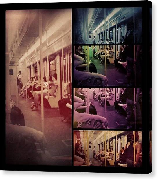 Jazz Canvas Print - Tube Visions #iphone #instagram by Roberto Pagani
