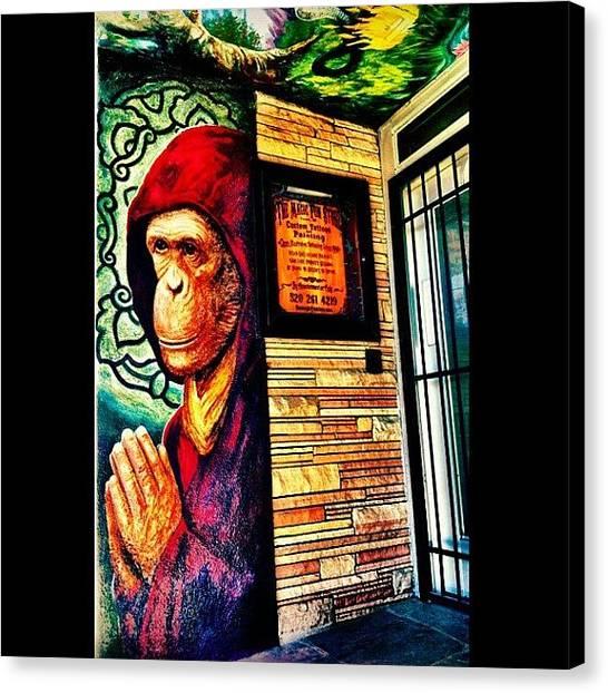Apes Canvas Print - #tucson #graffiti #streetart #arizona by CactusPete AZ