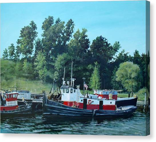 Tugs Canvas Print