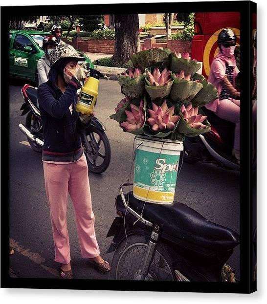 Vietnamese Canvas Print - Tukang Bunga by Fazwan Nordin