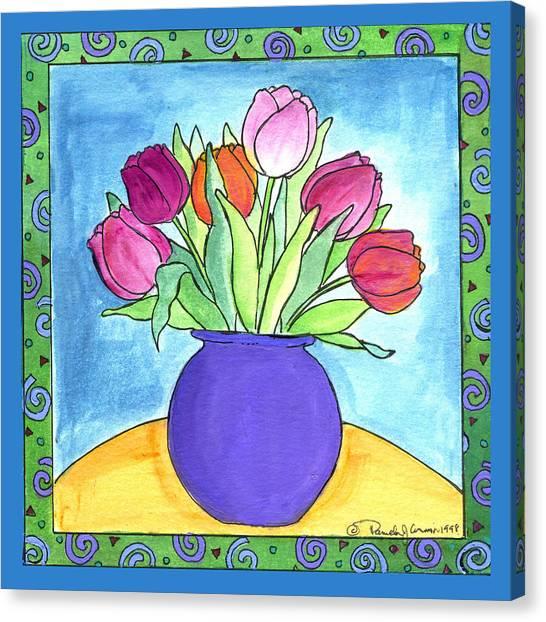 Tulips Canvas Print by Pamela  Corwin