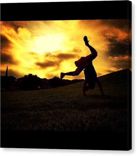 Tumbling Canvas Print - #tumbling #whpgoldenhour by Aja Reed