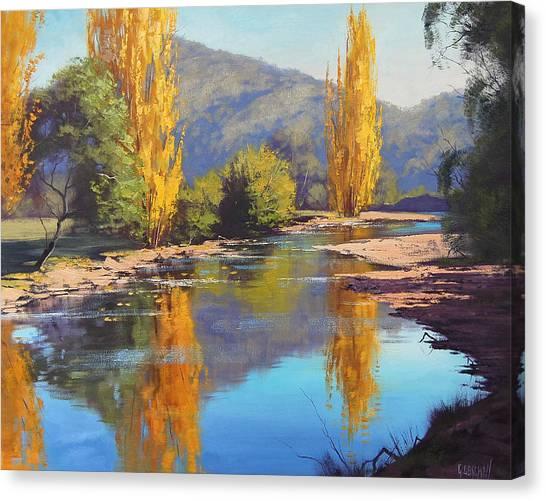 Amber Canvas Print - Tumut River Gold by Graham Gercken