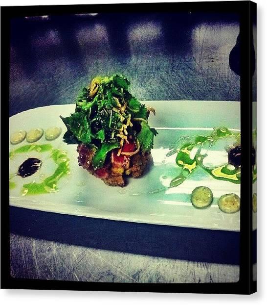 Tuna Canvas Print - #tuna #foodpic #foods #foodporn #foodie by Cameron Adams