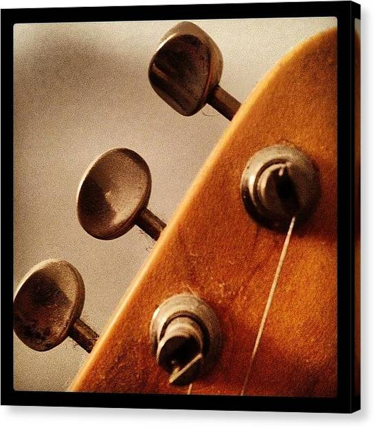 Guitars Canvas Print - Tune Up by Ken Powers
