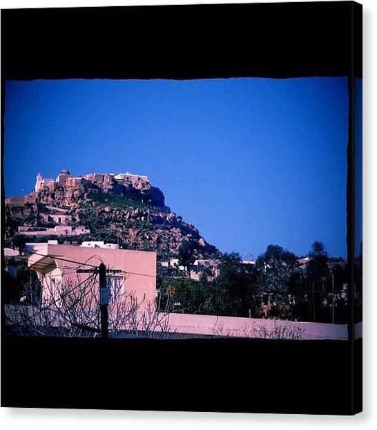 Roman Art Canvas Print - #tunisia, #ruins, #nature, #sky, #blue by Sara Savoini
