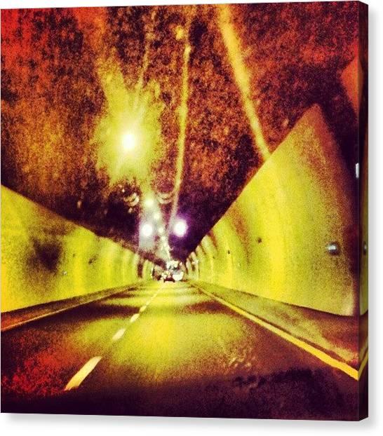 Spiritual Canvas Print - Tunnel Compositon 27082012 by Dorit Stern