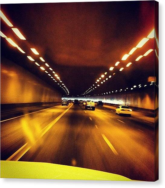 Interstates Canvas Print - #tunnel #i10 #interstate #interstate10 by Shawn Doherty
