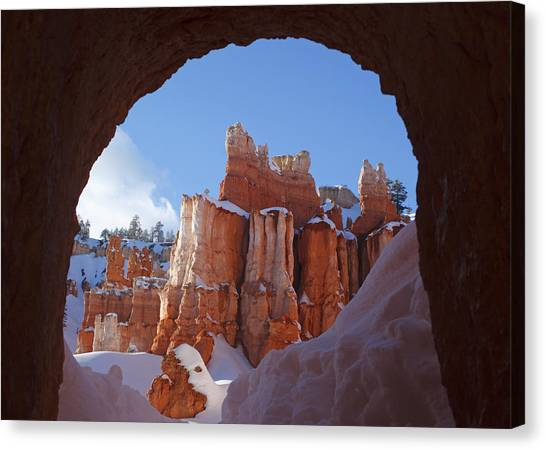Tunnel In The Rock Canvas Print