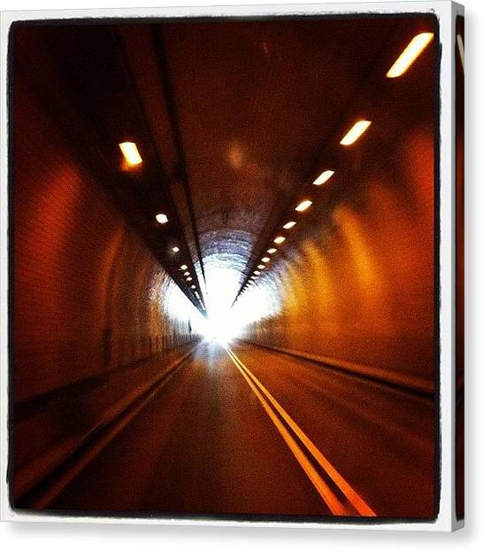Tunnels Canvas Print - Tunnel In West Virginia by Abril Andrade Griffith