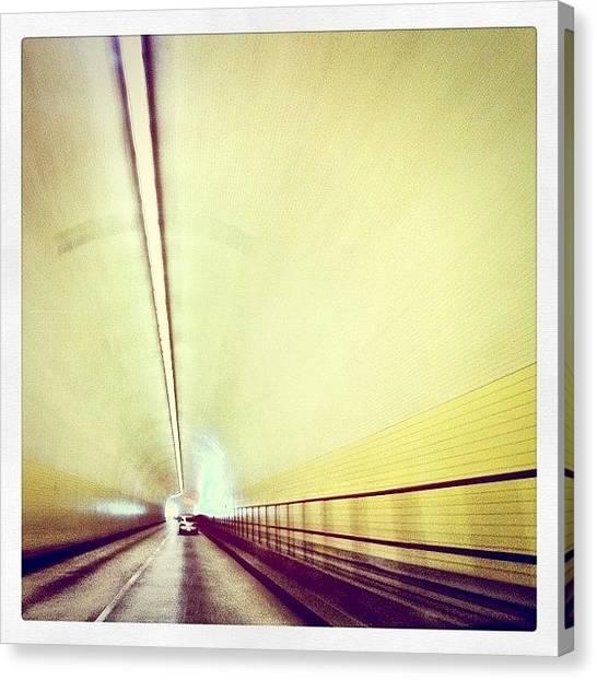 Tunnels Canvas Print - Tunneling Thru Broadway by Kim Hudson