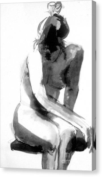 Canvas Print featuring the drawing Turn Back by Gabrielle Wilson-Sealy