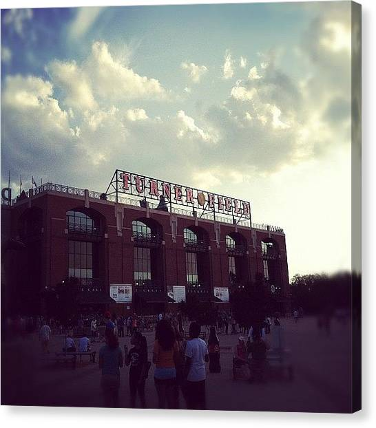 Atlanta Braves Canvas Print - Turner Field by Erin Egan